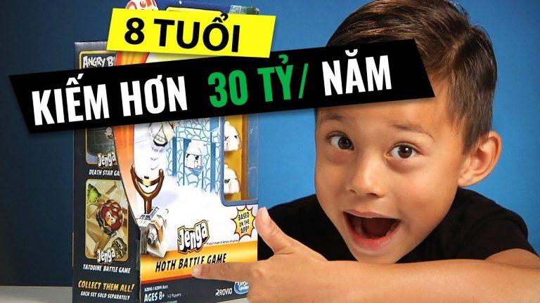 EvantubeHD - Cậu bé 8 tuổi kiếm 1,3 triệu USD/năm nhờ YouTube